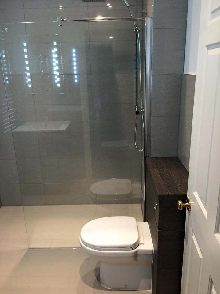 sleek wet room installation St Leonards on sea East Sussex