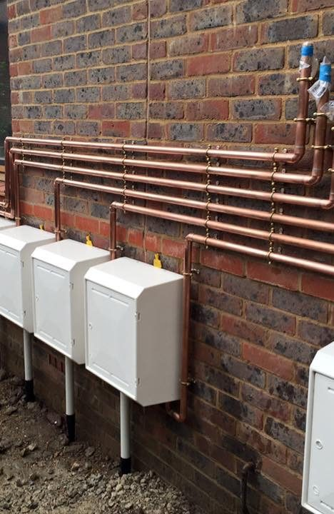 new gas feed to flats in little common East Sussex